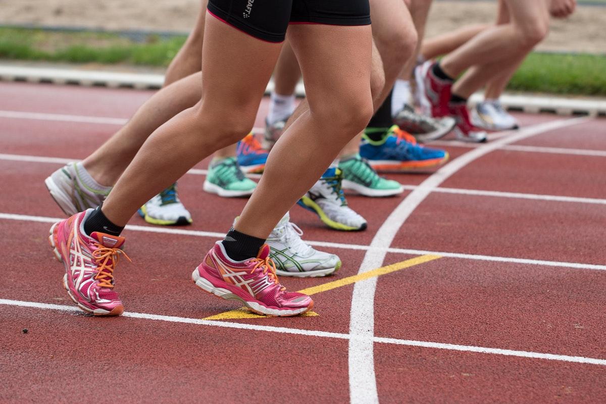 race start feet